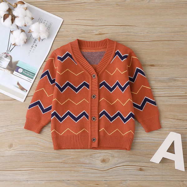 4PCS Baby Girls Button V-Neck Long Sleeve Cardigan Sweater Jacket Bulk Baby Clothes Online