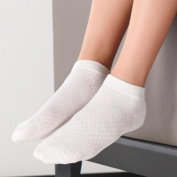 4PCS Campus White Socks Thin Boat Socks Boys&Girls Childrens Accessories Wholesale