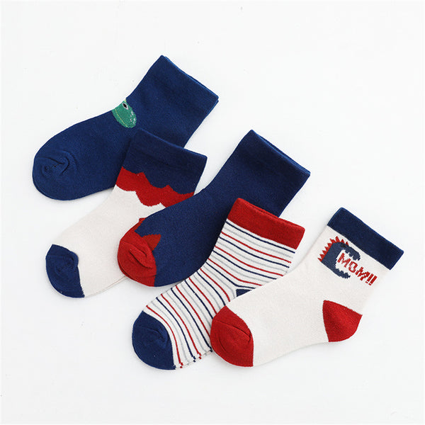Baby 5-Pairs Cartoon Casual Socks Sets Baby Accessories Wholesale