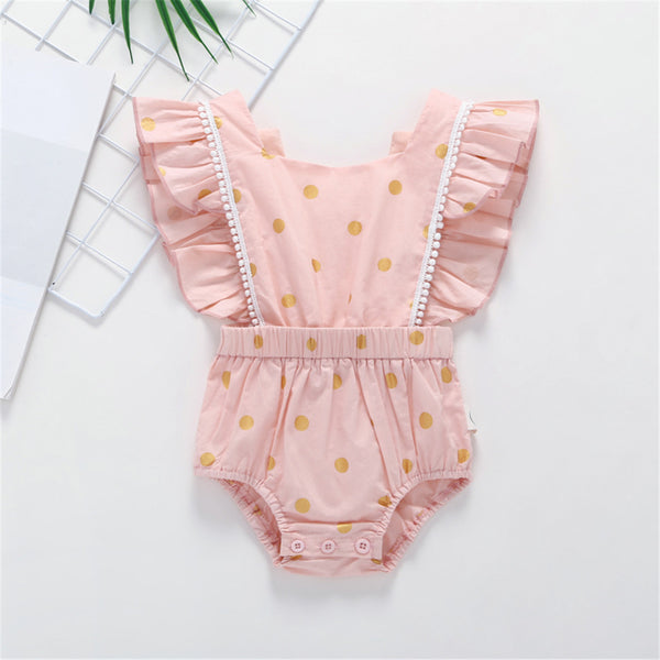 50PCS No Profit On Sale Clearance & Closeout Specials Baby Girls Fly Sleeve Romper baby wholesale