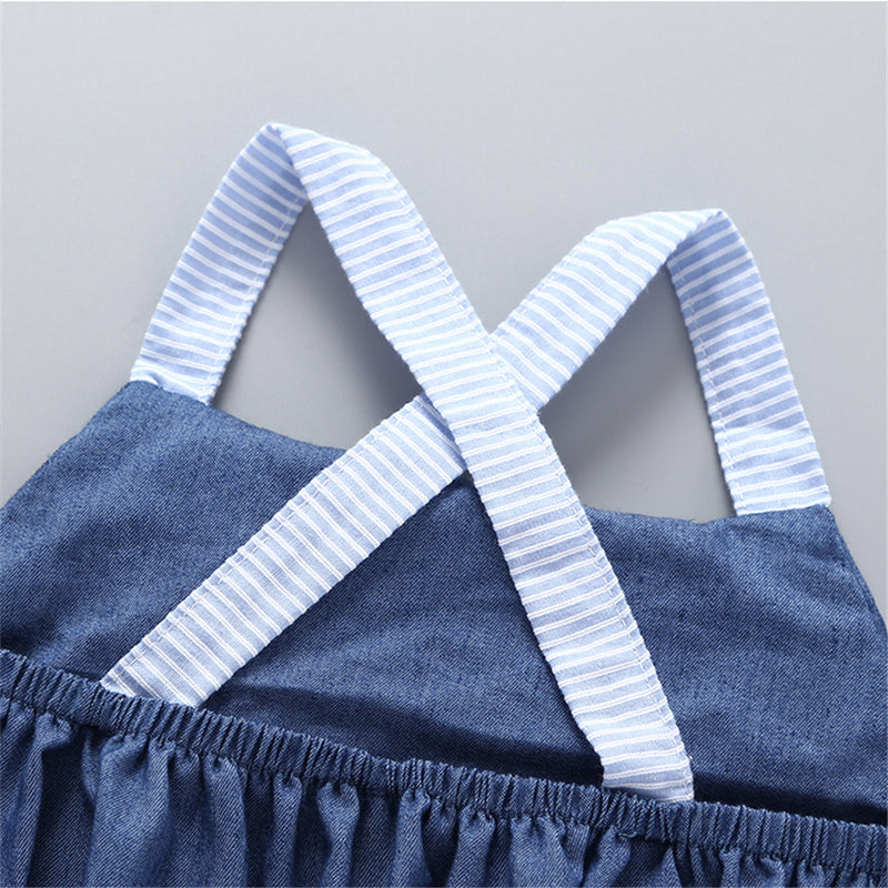 50PCS No Profit On Sale Clearance & Closeout Specials Baby Girls Tassel Sling Romper cheap baby girl clothes boutique