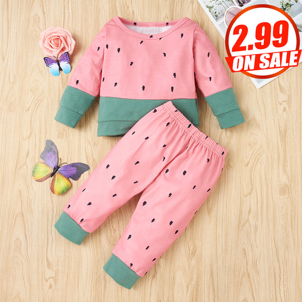 50PCS No Profit On Sale Clearance & Closeout Specials Baby Long Sleeve Top & Pants Wholesale Baby Clothes