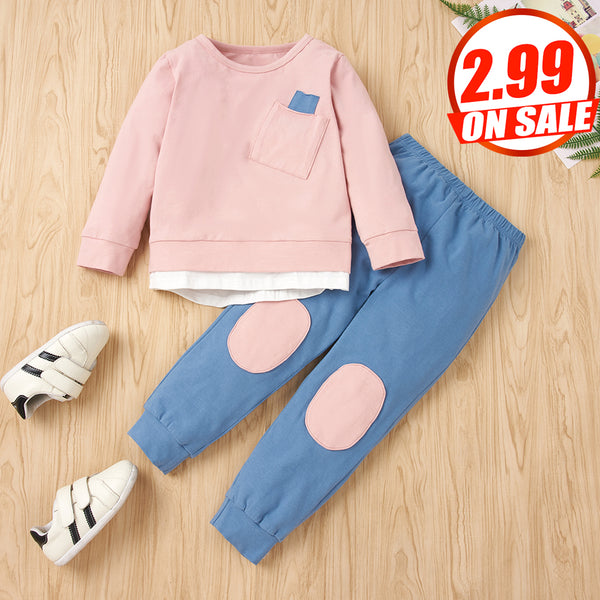 50PCS No Profit On Sale Clearance & Closeout Specials Baby Unisex Long Sleeve Top & Pants Wholesale Baby Clothes