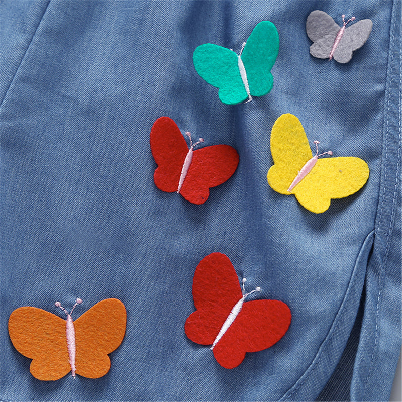 50PCS No Profit On Sale Clearance & Closeout Specials Girls Butterfly Shorts kids wholesale clothing