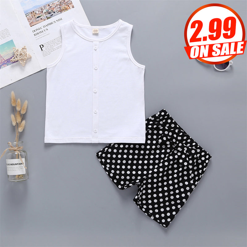 50PCS No Profit On Sale Clearance & Closeout Specials Girls Sleeveless Top & Shorts wholesale children's boutique clothing suppliers usa