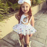 50PCS No Profit On Sale Clearance & Closeout Specials Unicorn Rainbow Mesh Romper baby wholesale