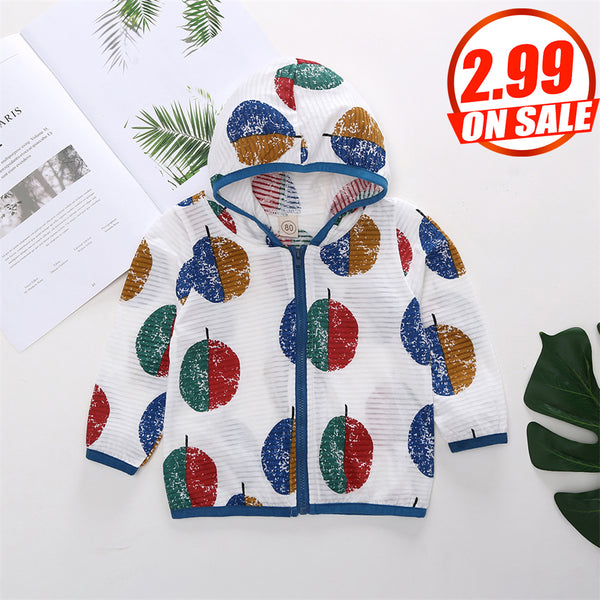 50PCS No Profit On Sale Clearance & Closeout Specials Unisex Long Sleeve Zipper Hooded Sun Protection Jacket wholesale childrens clothing