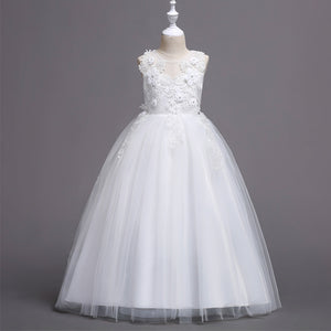 Girls Party Dress Long Princess Dress Flower Girl Wedding Dress