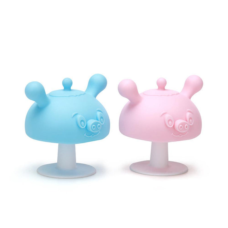 5PCS Baby Mushroom Soother Silicone Cartoon Pig Baby Accessories Wholesale