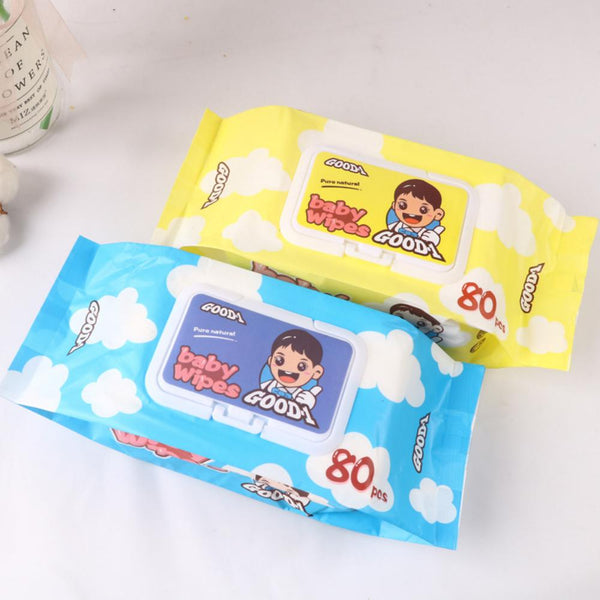 5 Packs Of Baby Wipes Non-woven Thickening Wet Wipes 80 PCS In A Pack Wholesale Baby Accessories