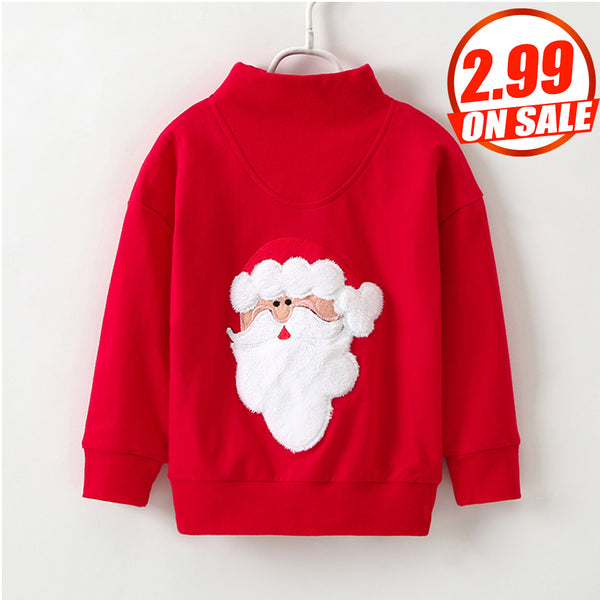 61PCS No Profit On Sale Clearance & Closeout Specials Parent-Child Santa Claus Long Sleeve Pullover Top mommy and me outfits wholesale