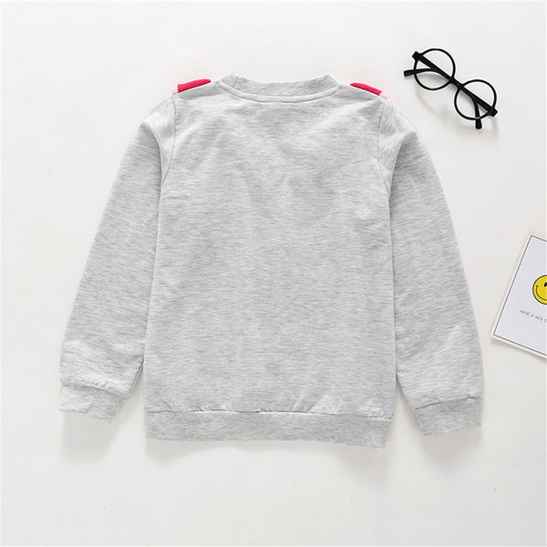 80PCS No Profit On Sale Clearance & Closeout Specials Girls Long Sleeve Bird Embroidery T-Shirts wholesale childrens clothing online