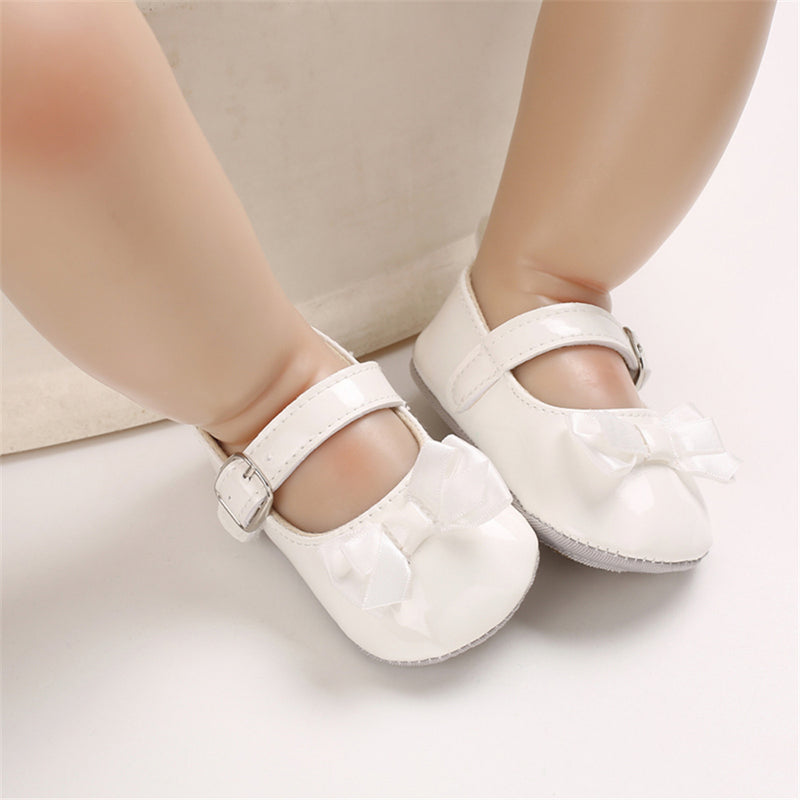 Baby Girls Adjustable Buckle Solid Color Bow Sandals Girls Shoes Wholesale