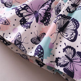 Baby Girls Adorable Bow Butterfly Printed Suspender Dresses wholesale baby clothing