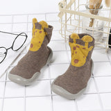 Baby Boys Animal Print High Top Knitted Sock Shoes