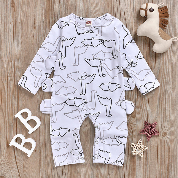 Baby Boy Animal Printed Long Sleeve Romper Buy Baby Clothes Wholesale