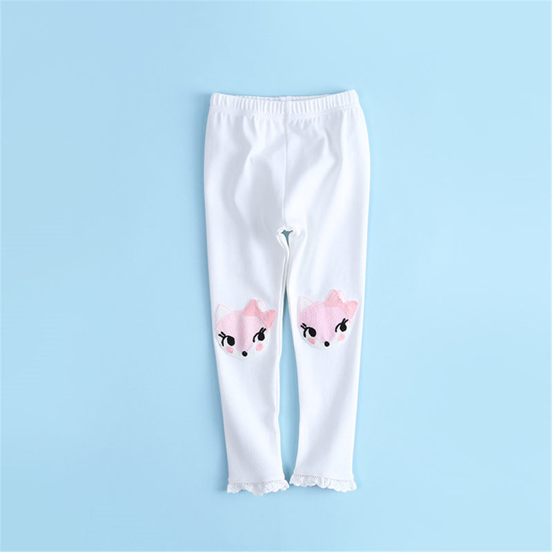 Girls Animal Printed Soft Elastic Waist Pants