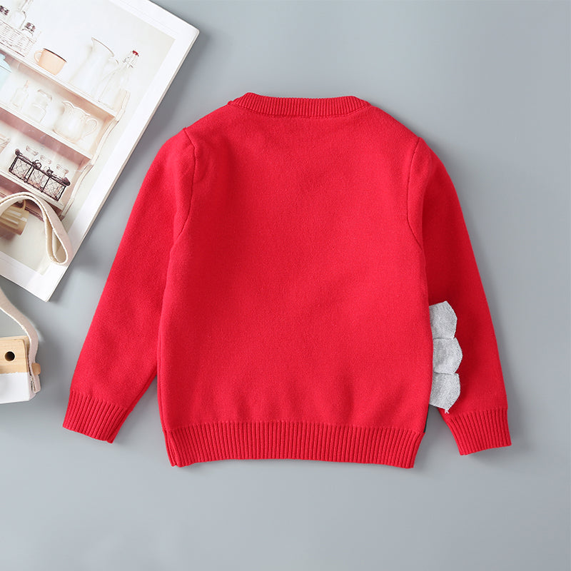 Boys Cute Animals Print Long Sleeve Knit Jumper