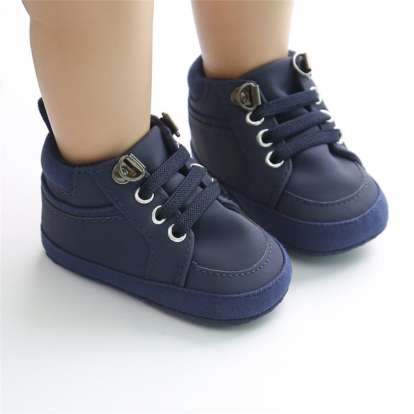 Baby Artificial Leather Lace Up Sneakers Wholesale Baby Shoes