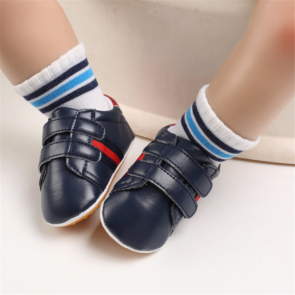 Baby Artificial PU Casual Magic Tape Sneakers Cheap Kid Shoes Wholesale