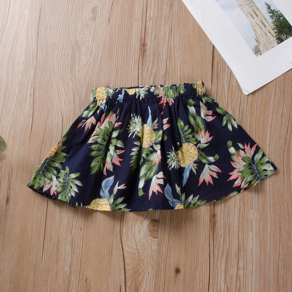 Toddler Girls Flower Print A-Line Skirt