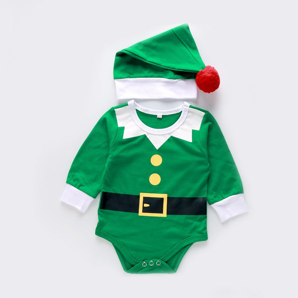 Baby Boys Christmas Long Sleeve Romper & Hat Where To Buy Baby Clothes In Bulk