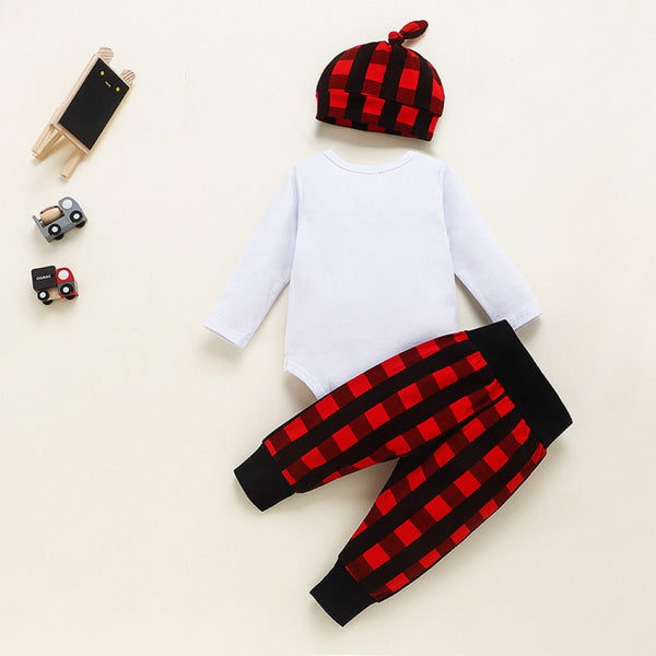 Baby Boys Letter Printed Romper & Pants & Hat Baby Boutique Wholesale
