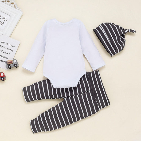 Baby Boys Letter Printed Romper & Pants & Hat Buy Baby Clothes Wholesale