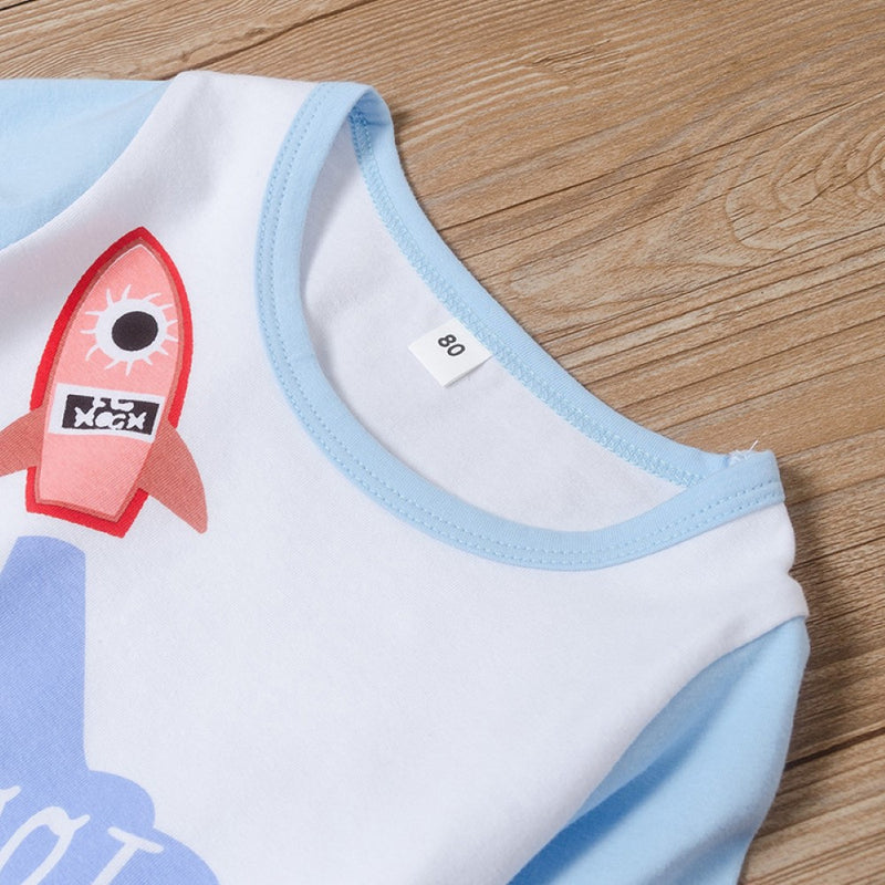 Baby Boys Rocket Printed Top & Pants Baby Boys Clothes Wholesale