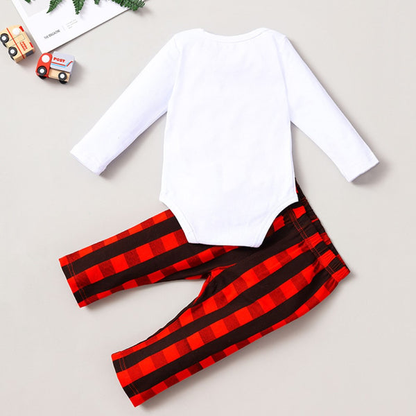 Baby Girls Christmas Letter Printed Romper & Pants Baby Wholesale Suppliers