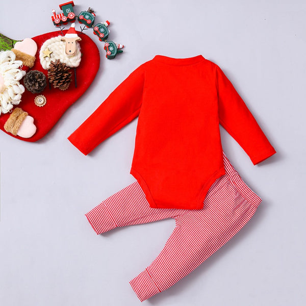 Baby Girls Christmas Long Sleeve Romper & Pants Baby Clothes Warehouse