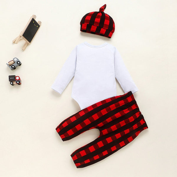 Baby Girls Letter Printed Romper & Pants & Hat Wholesale Baby Clothes Usa