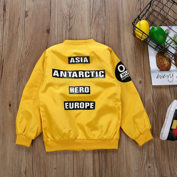 Baseball Boys Long Sleeve Letter Printed Shirt Boy Boutique Clothing Wholesale