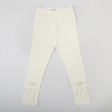 Girls Beaded Bow Solid Color Pants
