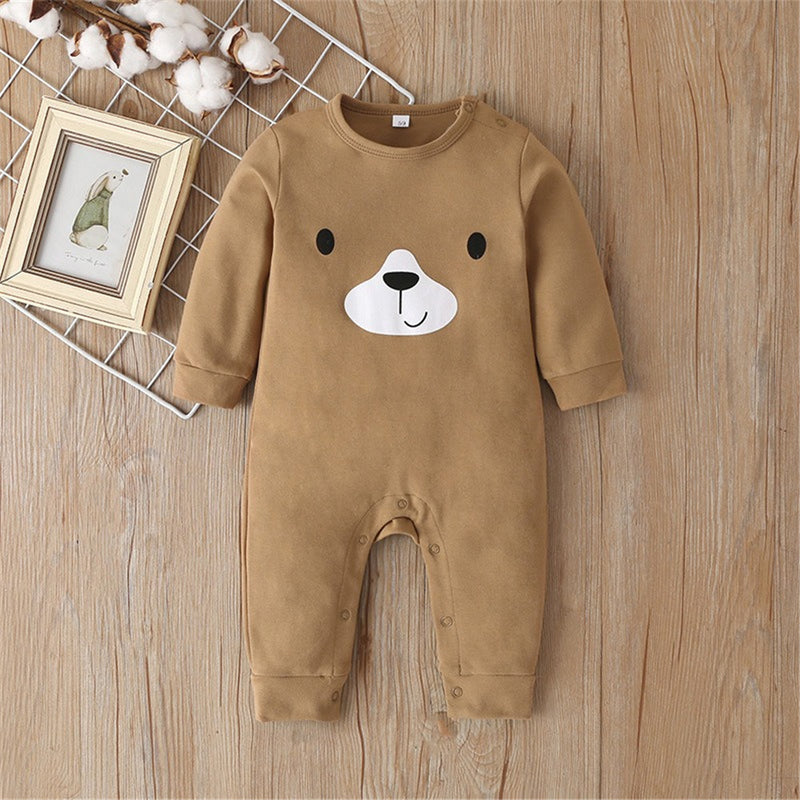 Baby Bear Cartoon Casual Rompers
