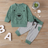 Boys Bear Dolka Dot Long Sleeve Top & Pants
