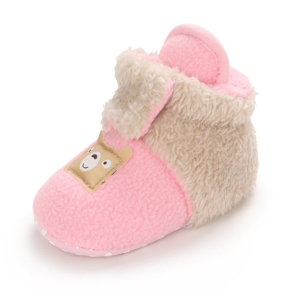 Baby Bear Fur Magic Tape Warm Boots Toddler Shoes Wholesale