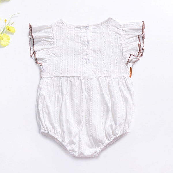 Baby Girls Bow Decor Short Sleeve Casual Romper baby clothes wholesale distributors