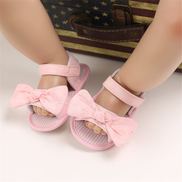 Baby Girls Bow Soft Rubber Sandals Wholesale Kids Shoes