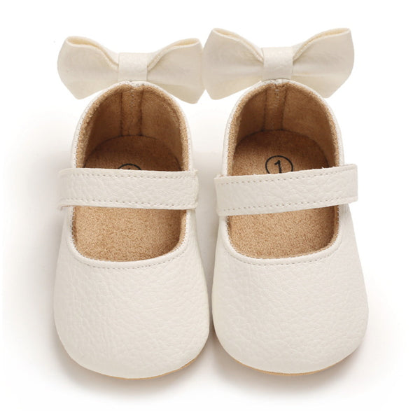 Baby Girls Bow Solid Princess Shoes Baby Shoe Wholesale