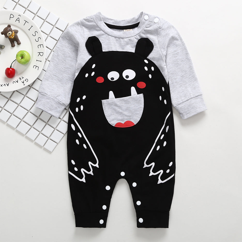 Baby Boy Cute Cartoon Long Sleeve Romper