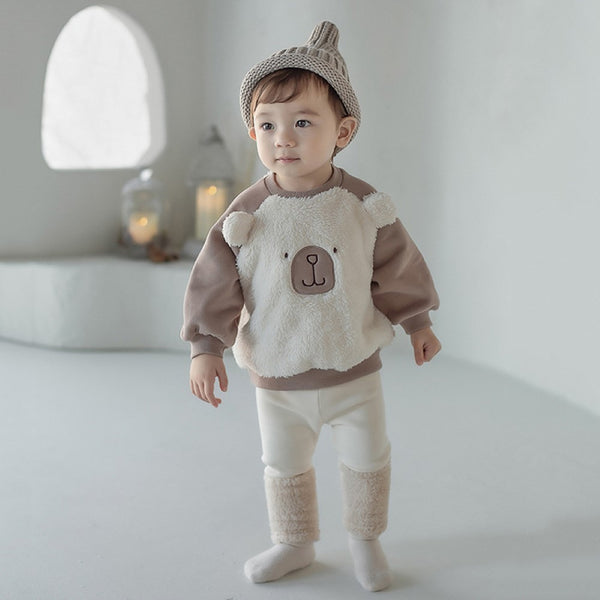 Boys Baby Bear Pattern Long Sleeves Top Wholesale Clothing For Boys
