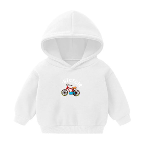 Boys Bicycle Cartoon Letter Printed Shirt Wholesale Toddler Boy Clothing