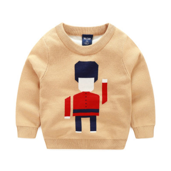 Boys British Guard Pattern Long Sleeves Sweater Boy Clothes Wholesale