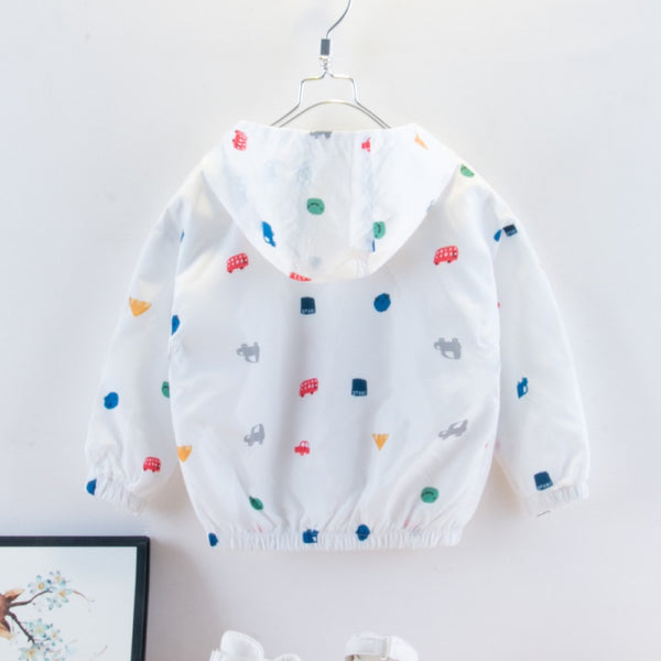 Boys Cartoon Car Printed Jacket Boy Boutique Clothing Wholesale