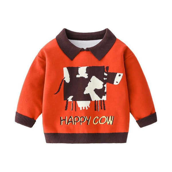 Boys Cartoon Cow Polo Shirt Little Boy T Shirts