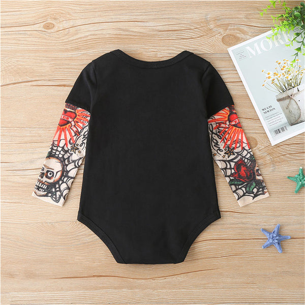 Baby Boys Cartoon Letter Printed Long Sleeve Tops