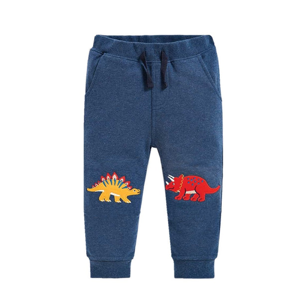 Boys Cartoon Stegosaurus Dinosaur Pattern Pants Little Boy Boutique Wholesale