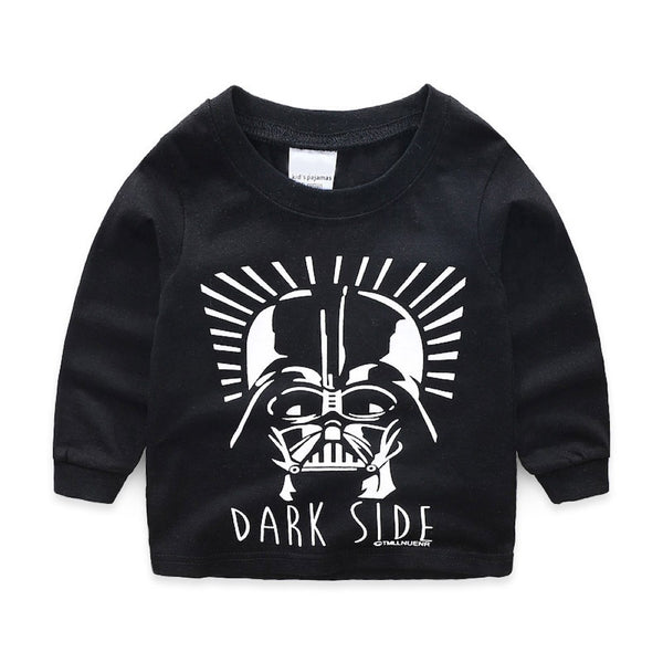 Boys Dark Side Pattern Long Sleeves Top & Pants Wholesale Boys Clothes