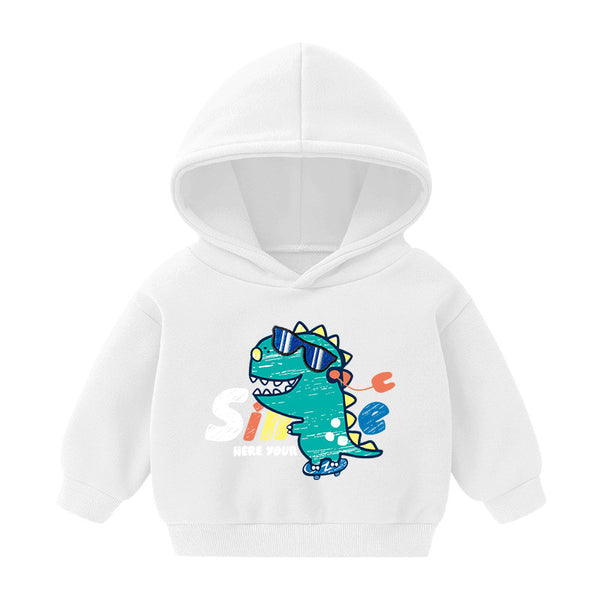 Boys Dinosaur Printed Hooded Long Sleeve Shirt Boy Clothing Wholesale